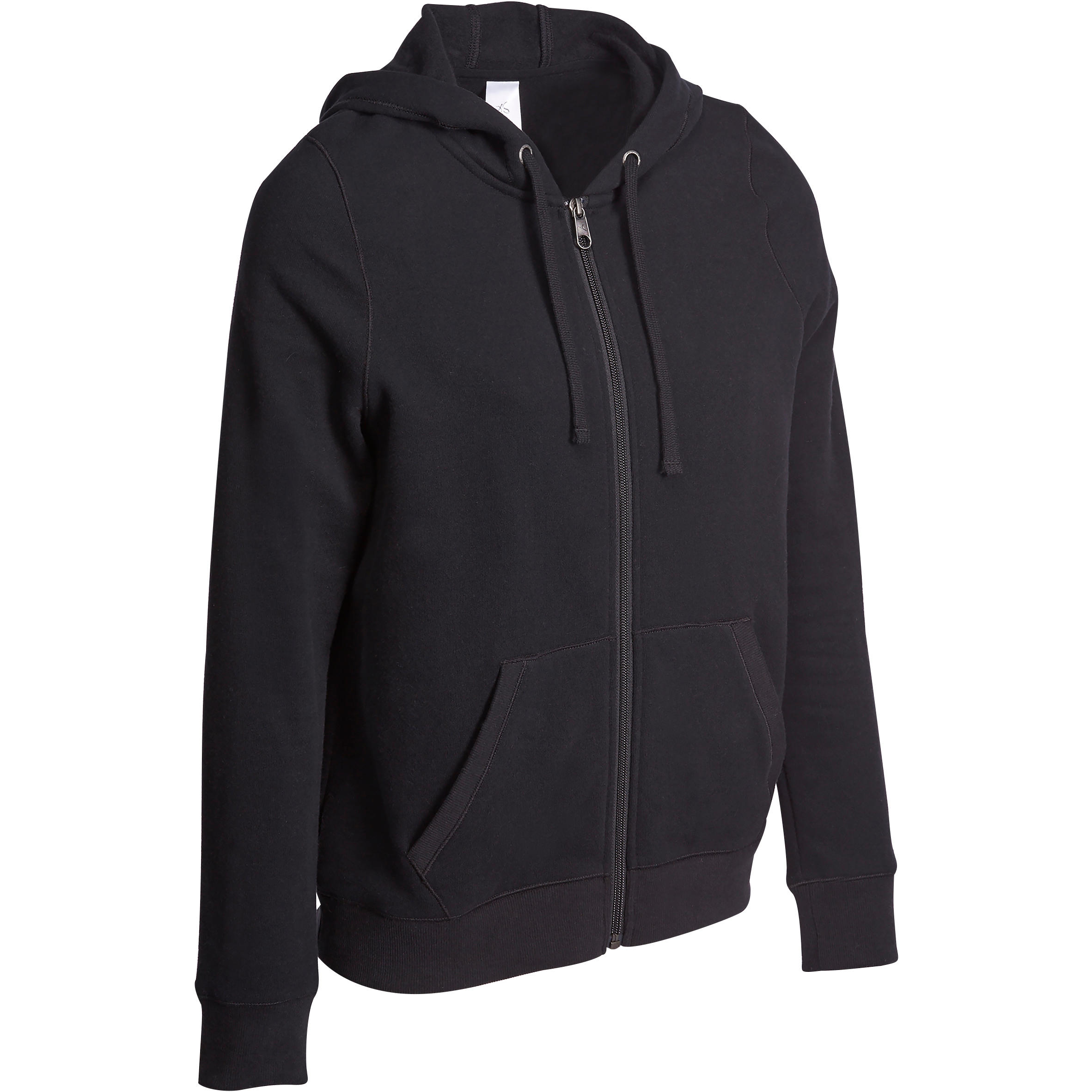 Veste 520 capuchon gymnastique d'étirements femme noir