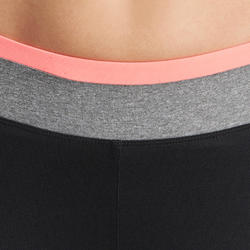 Kuitbroek fitness cardio Energy dames zwart met contrasterende boord - 988629