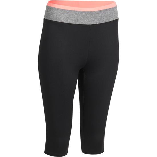 Kuitbroek fitness cardio Energy dames zwart met contrasterende boord - 988646