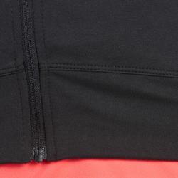 Fitnessvest Energy voor dames, voor cardiotraining, zwart met roze accenten - 988654