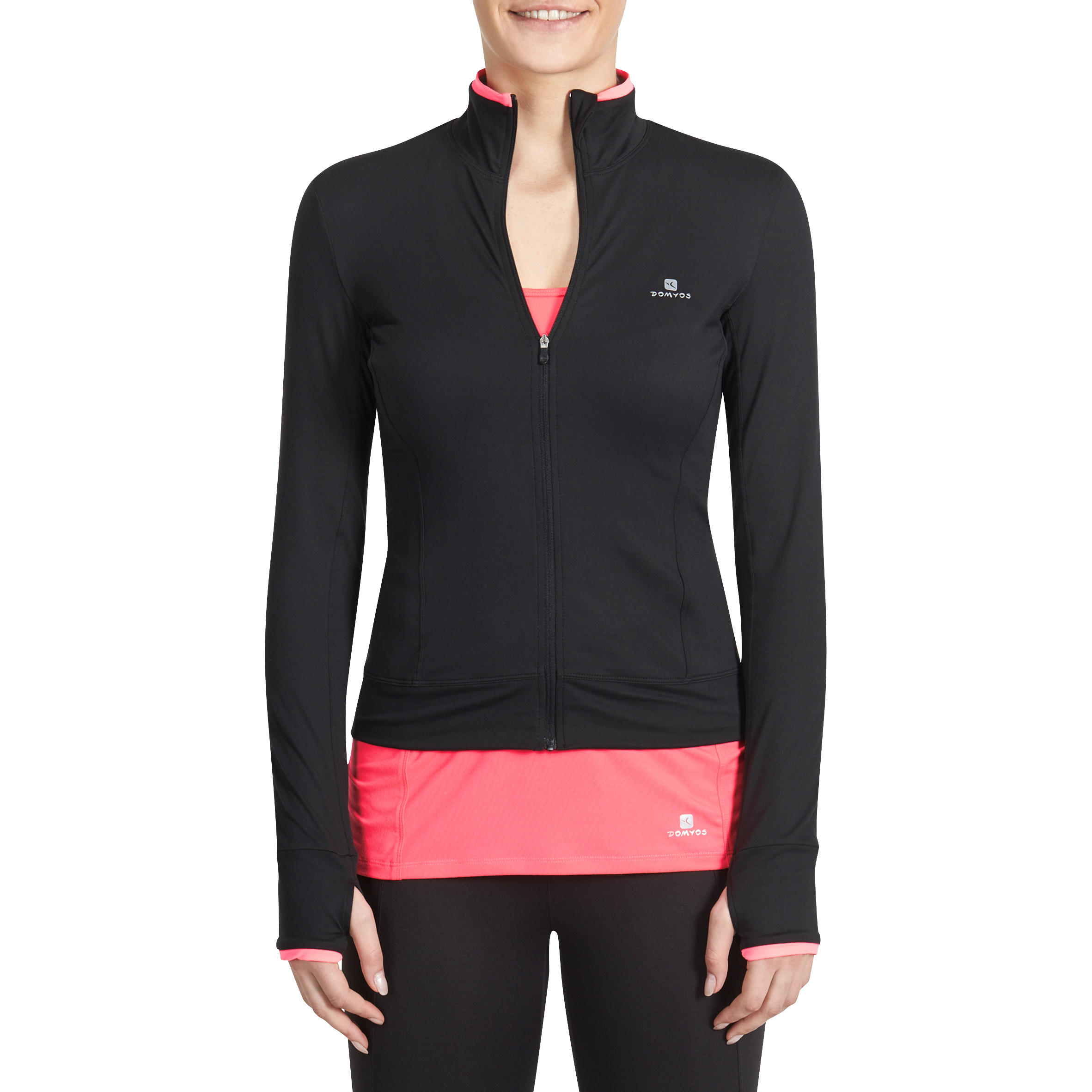 100 Women's Cardio Fitness Jacket - Black