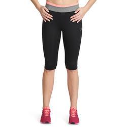Kuitbroek fitness cardio Energy dames zwart met contrasterende boord - 988662