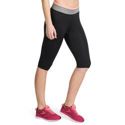 Kuitbroek fitness cardio Energy dames zwart met contrasterende boord - 988664