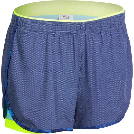 Short 2 in 1 fitness cardio dames zwart/roze Energy+ - 988691