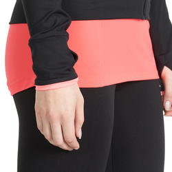 Fitnessvest Energy voor dames, voor cardiotraining, zwart met roze accenten - 988701