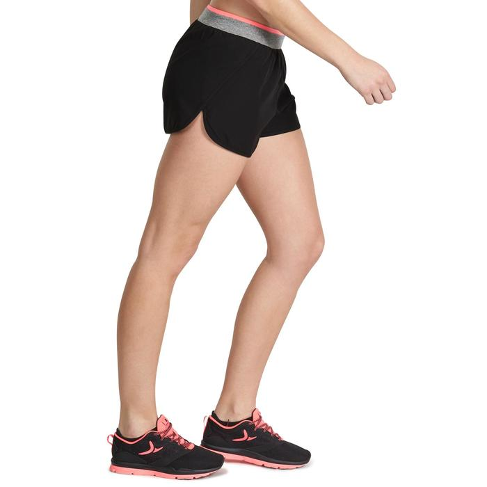 Sporthose kurz Cardio 100 Damen Fitness schwarz