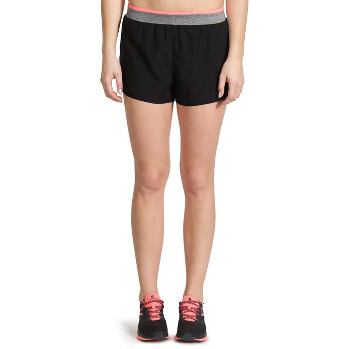 Short amplio cardio fitness mujer negro 100