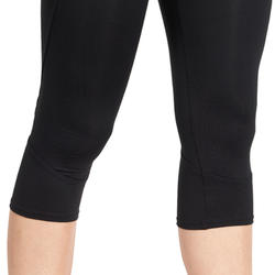 7/8-fitnesslegging cardio Energy dames zwart met contrasterende boord - 988724