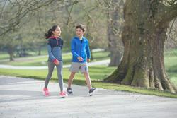 Tenis de caminata deportiva para niños Soft 140 azul marino / blanco