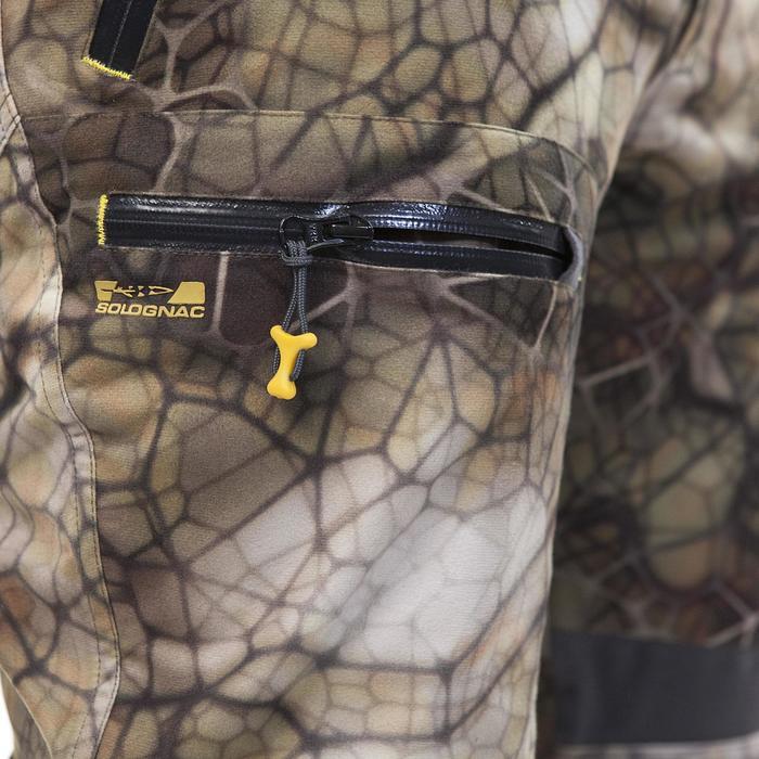 Pantalon chasse imperméable actikam 500 camouflage furtiv - 988891
