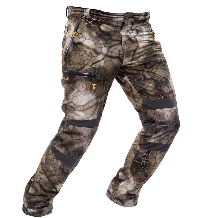Pantalon chasse imperméable actikam 500 camouflage furtiv - 988897