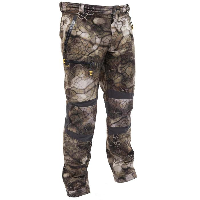 Pantalon chasse imperméable actikam 500 camouflage furtiv - 988899