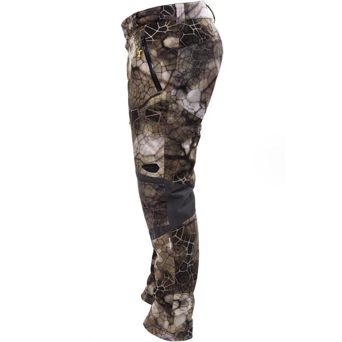 Pantalon chasse imperméable actikam 500 camouflage furtiv - 988901