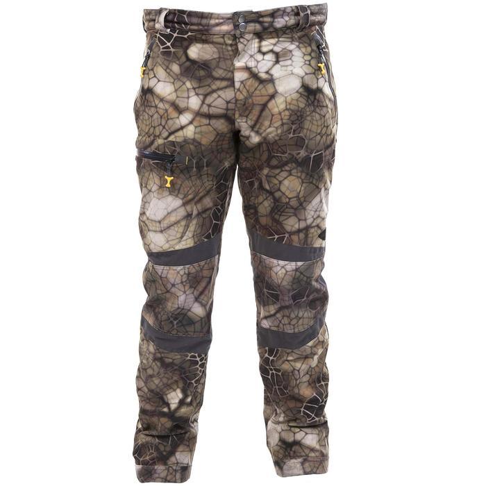 Pantalon chasse imperméable actikam 500 camouflage furtiv - 988902