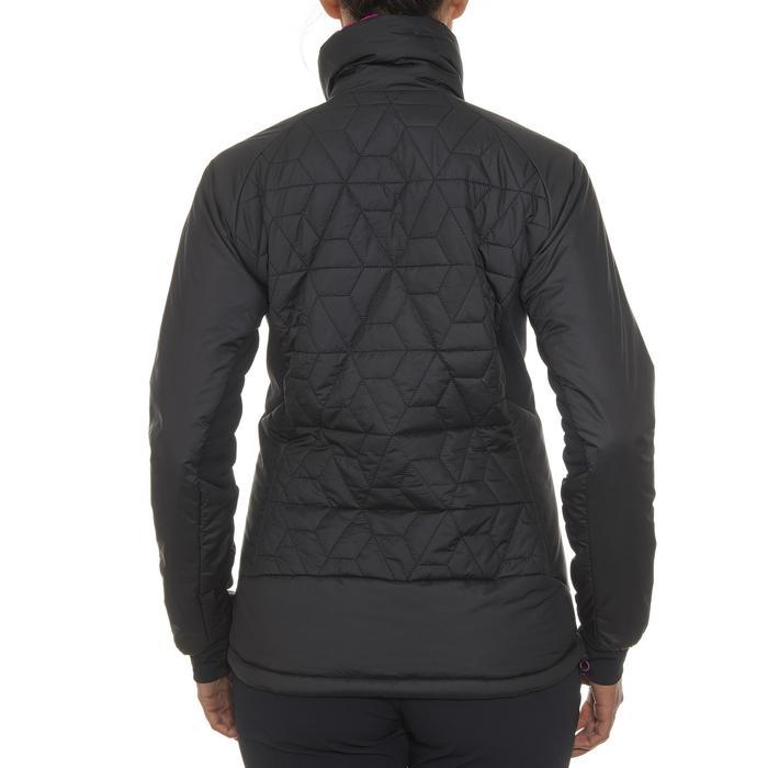Gewatteerde damesjas voor trekking Top-Light zwart