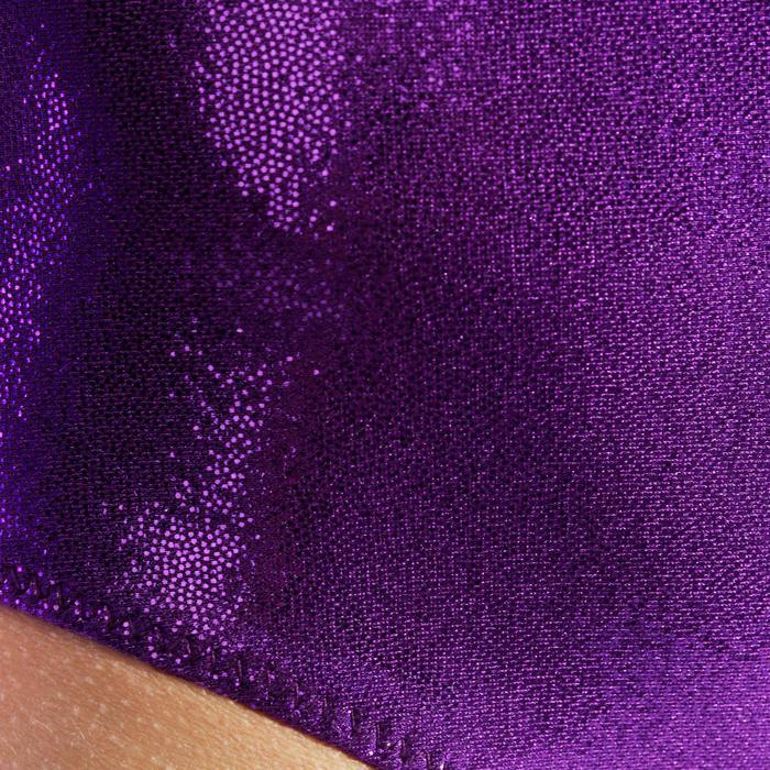 Justaucorps manches longues Gym Féminine (GAF) paillettes/strass/voile bleu. - 989183