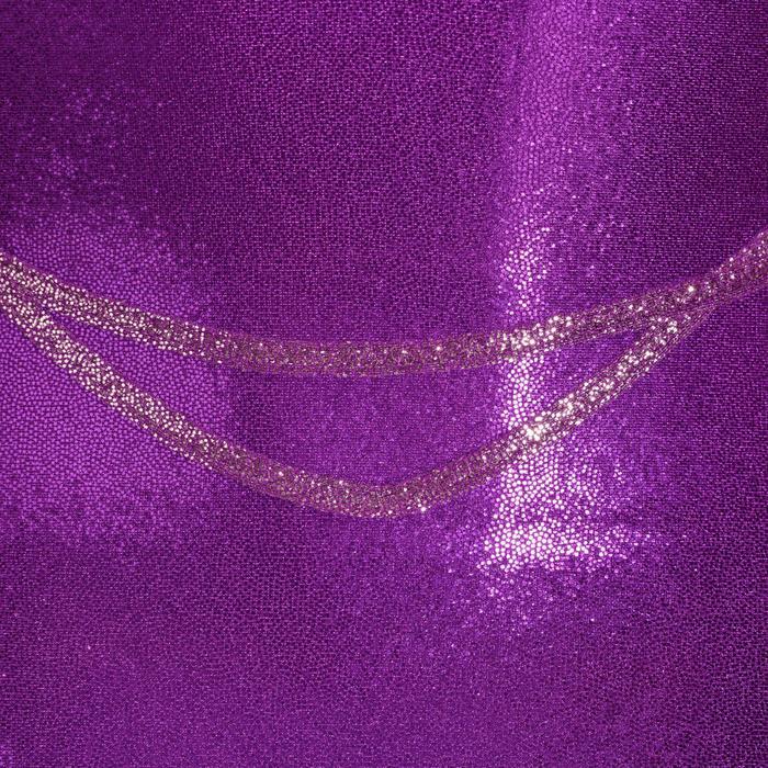 Maillot sin mangas gimnasia femenina (GAF) niña violeta/rosa