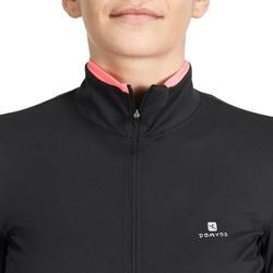 Fitnessvest Energy voor dames, voor cardiotraining, zwart met roze accenten - 989378