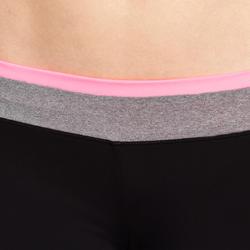 Aansluitende short fitness cardio dames zwart met contrasterende boord ENERGY - 989392