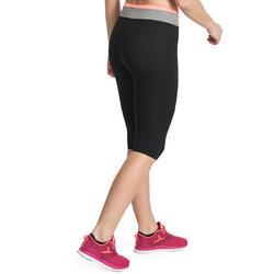 Kuitbroek fitness cardio Energy dames zwart met contrasterende boord - 989452