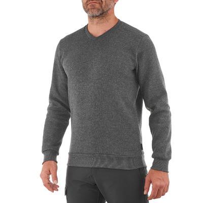 Чоловічий светр NH150 для туризму - Темно-сірий