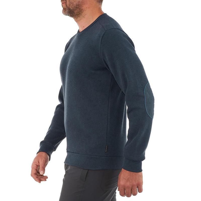 Sweater de senderismo en la naturaleza para hombre NH150 azul marino