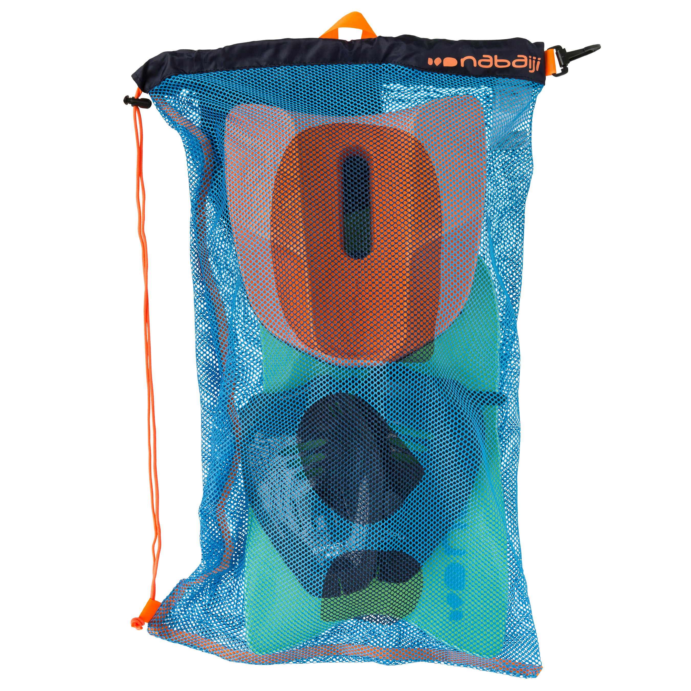Nabaiji Large Mesh Pool Bag - Blue Orange