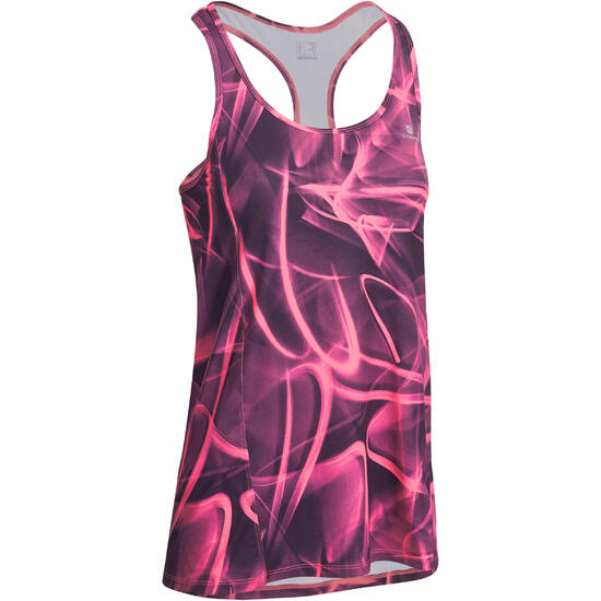 Lange fitnesstop cardio Energy dames ENERGY LONG TOP - 989669
