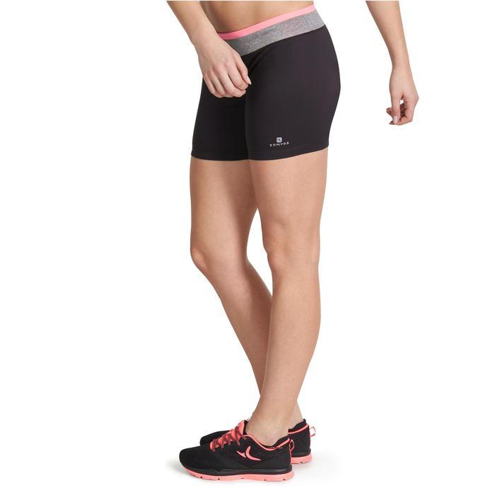 Short moulant fitness cardio femme noir ceinture contrastée Energy - 989696