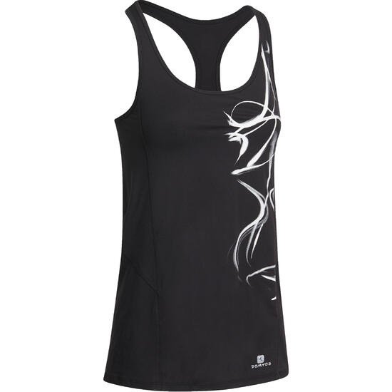 Lange fitnesstop cardio Energy dames ENERGY LONG TOP - 989717