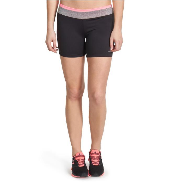 Sporthose kurz FTS 100 Cardio Fitness Damen schwarz
