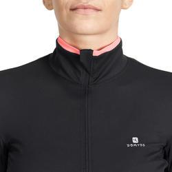 Fitnessvest Energy voor dames, voor cardiotraining, zwart met roze accenten - 989750