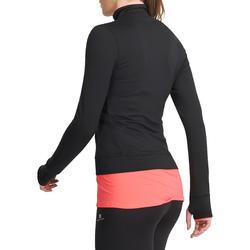 Fitnessvest Energy voor dames, voor cardiotraining, zwart met roze accenten - 989758