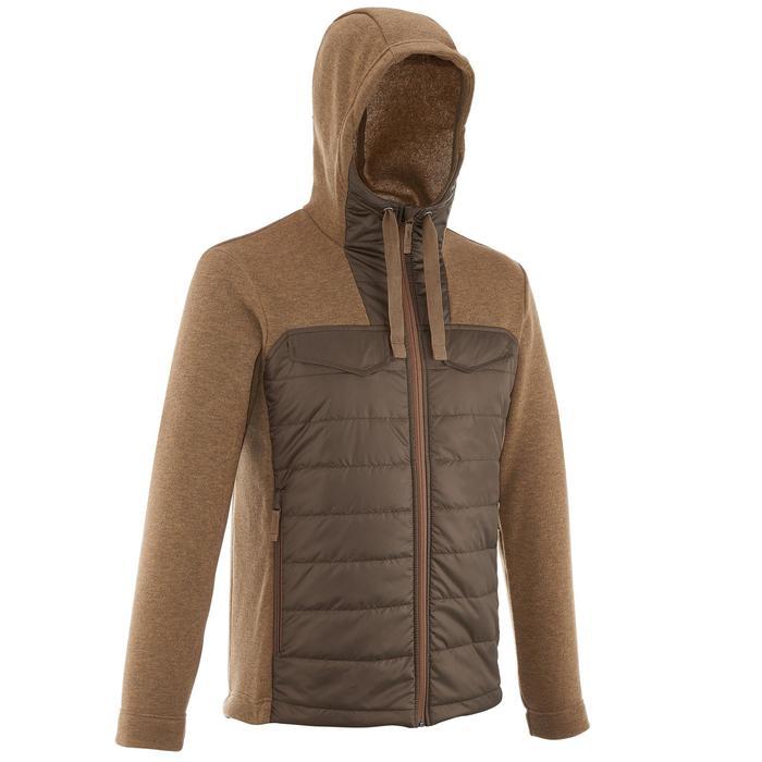 Men's nature hike pullover Arpenaz Hybrid brown - 989851