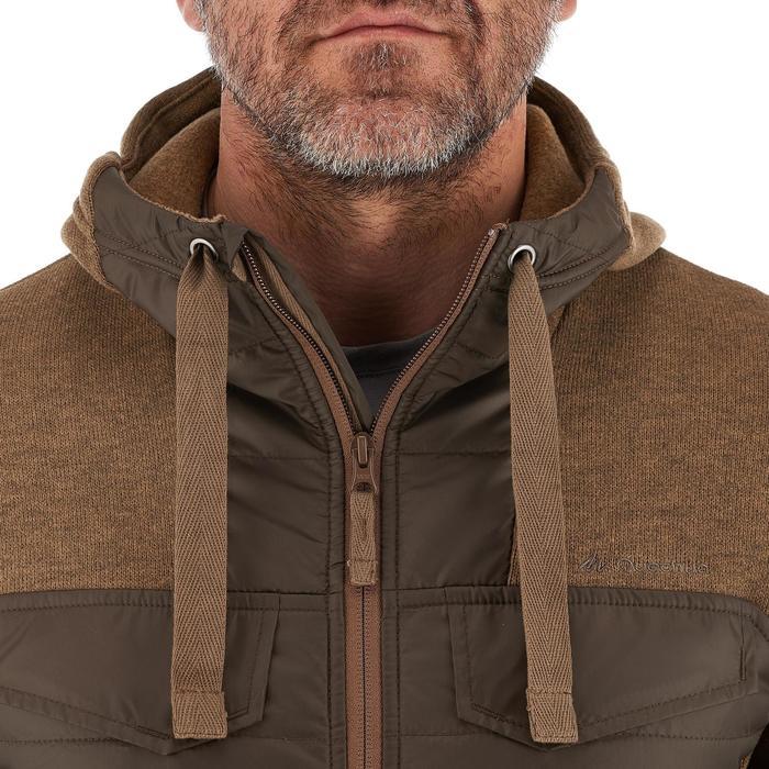 Men's nature hike pullover Arpenaz Hybrid brown - 989863
