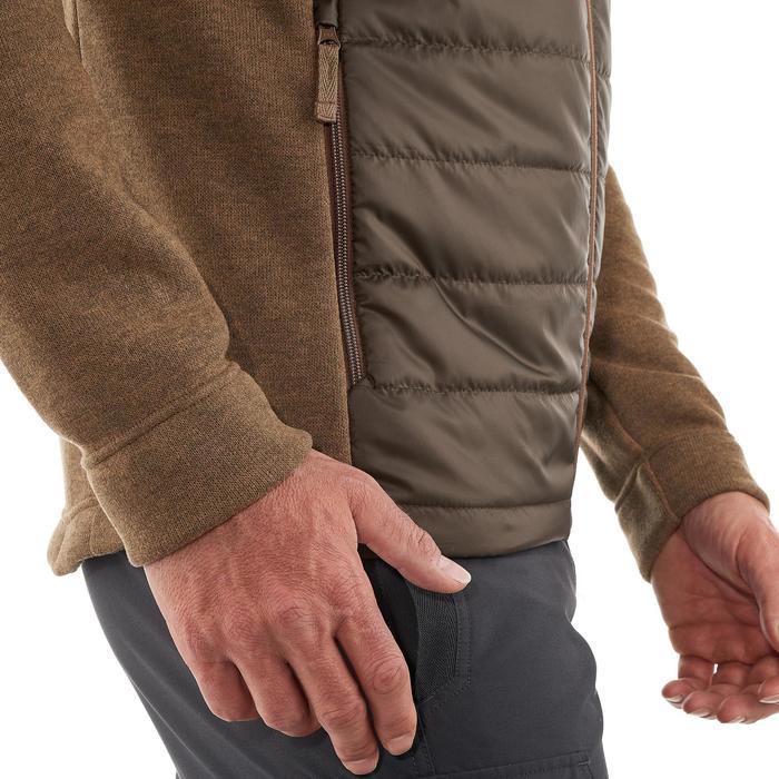 Men's nature hike pullover Arpenaz Hybrid brown - 989868