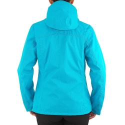 防雨保暖 100 女性 3合1徒步旅行夾克 - 黑色