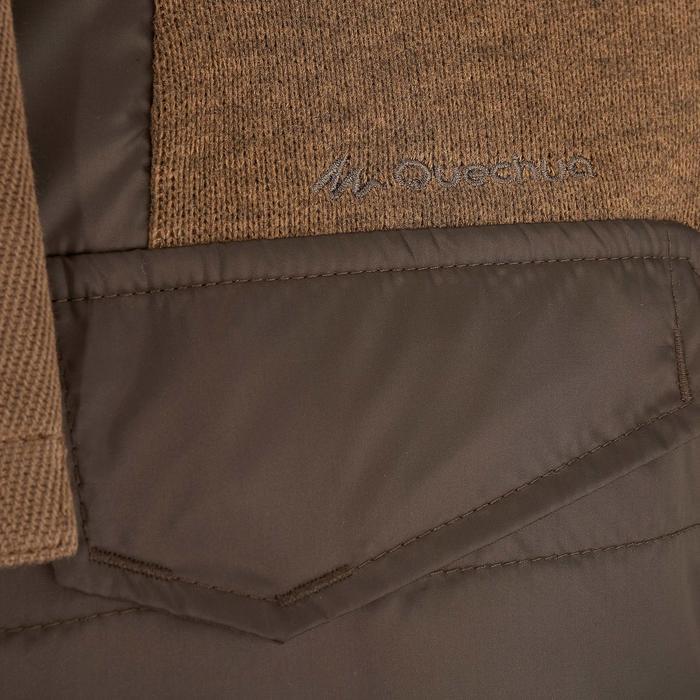 Men's nature hike pullover Arpenaz Hybrid brown - 989989
