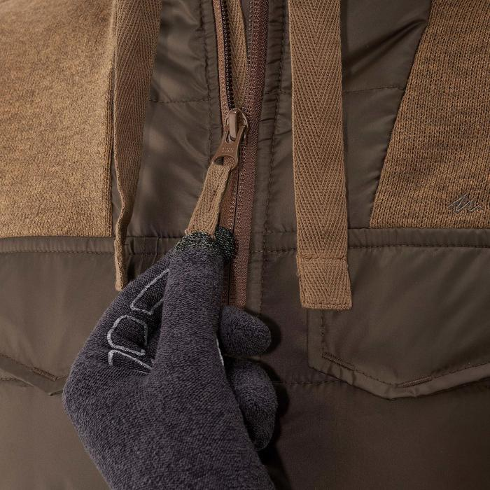 Men's nature hike pullover Arpenaz Hybrid brown - 989996