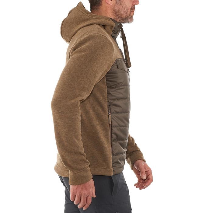 Men's nature hike pullover Arpenaz Hybrid brown - 990006