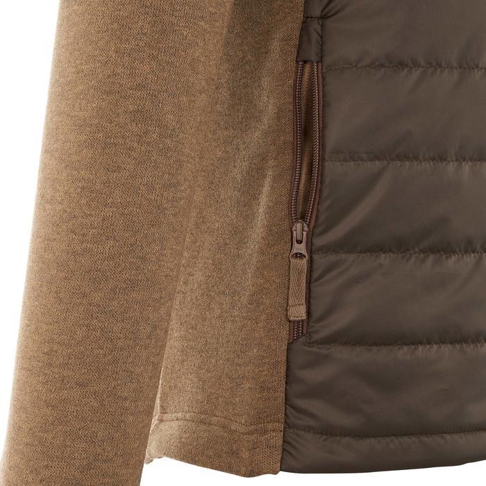 Men's nature hike pullover Arpenaz Hybrid brown - 990007