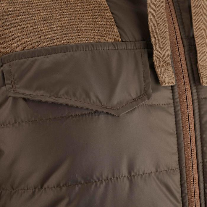 Men's nature hike pullover Arpenaz Hybrid brown - 990138
