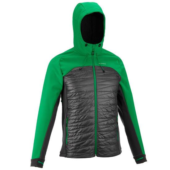 Heren softshell jas voor trekking WindWarm 800 Hybrid - 990148