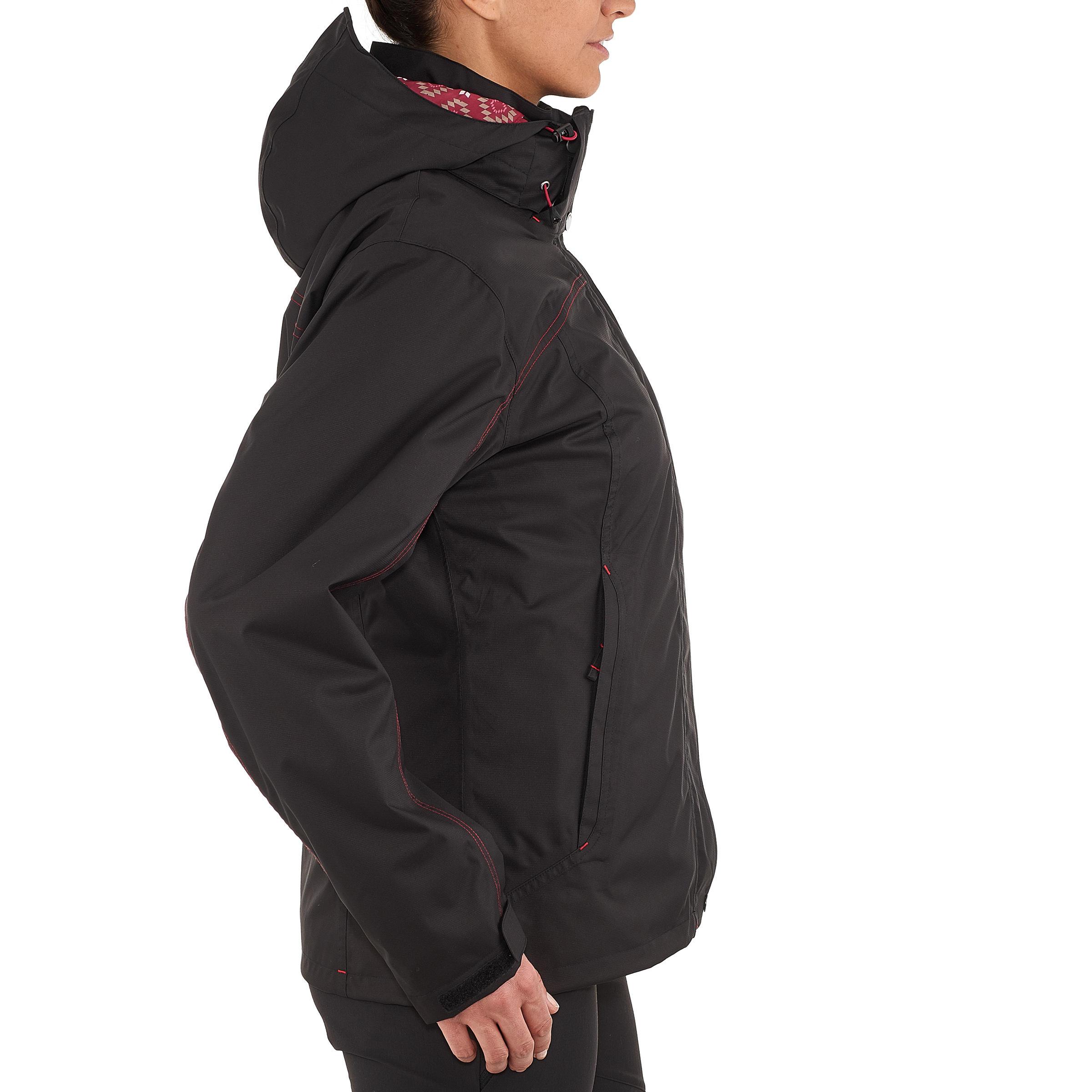 Veste randonnée Rainwarm 100 3 en 1 femme noir