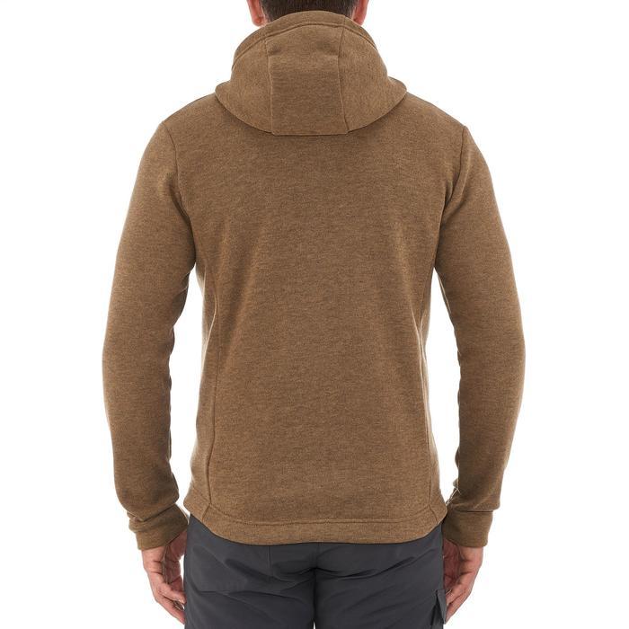 Men's nature hike pullover Arpenaz Hybrid brown - 990190