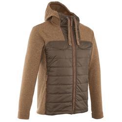 NH500 男款混合套頭毛衣-棕色