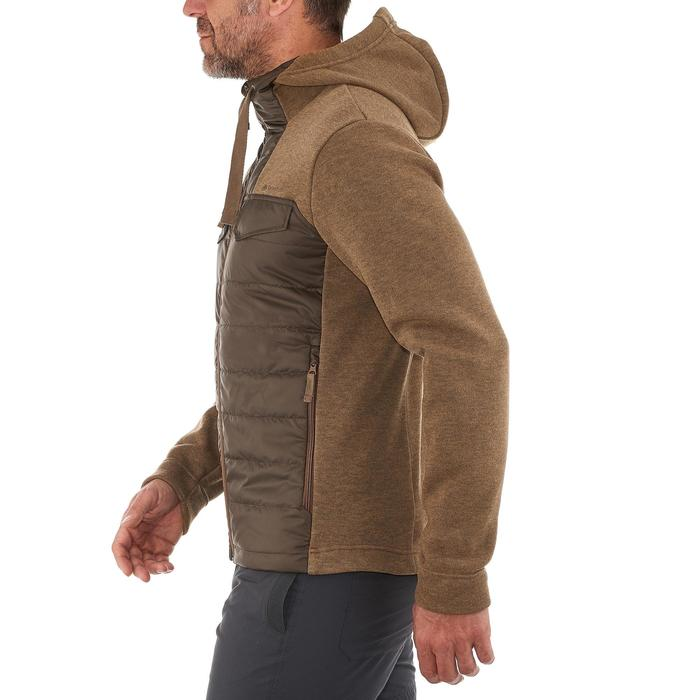 Men's nature hike pullover Arpenaz Hybrid brown - 990216