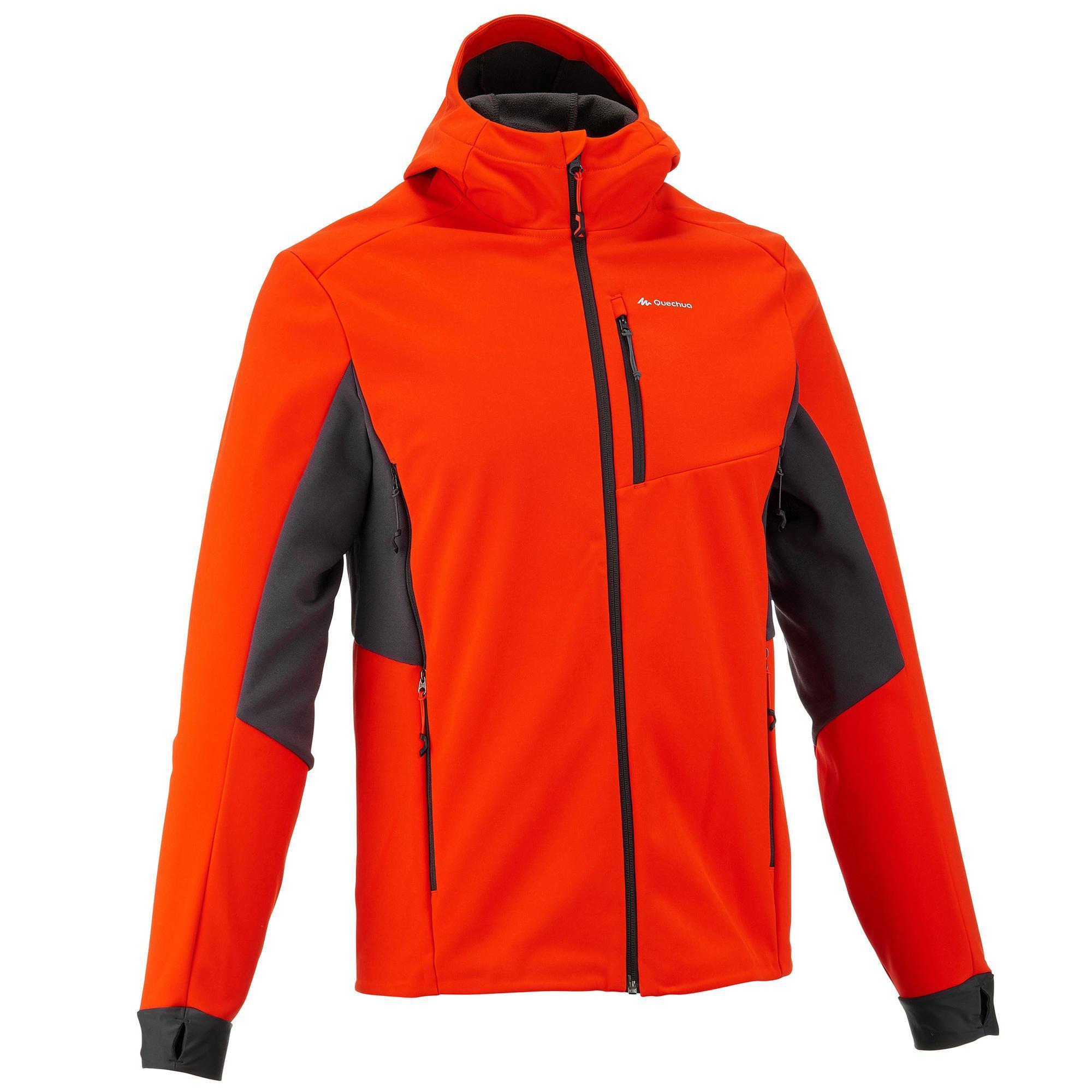 Windwarm 500 Men S Softshell Hiking Jacket Red Quechua