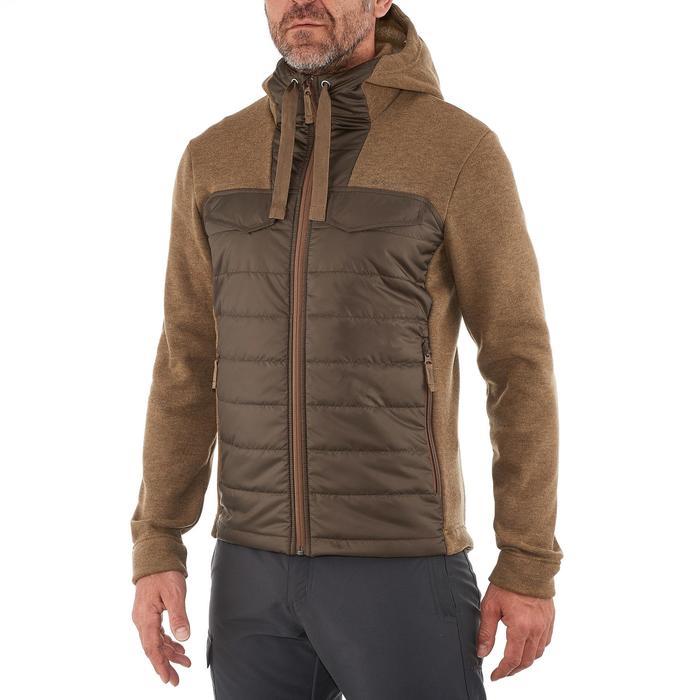 Men's nature hike pullover Arpenaz Hybrid brown - 990250