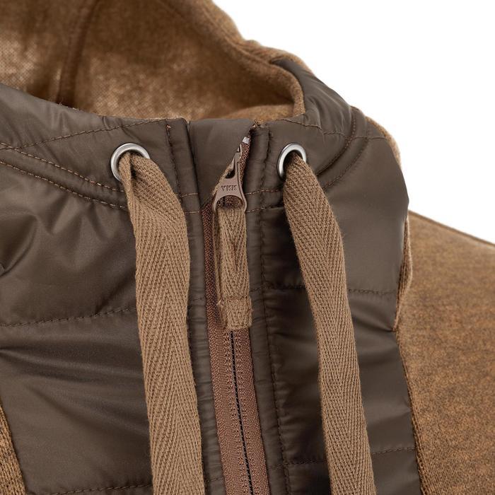 Men's nature hike pullover Arpenaz Hybrid brown - 990310